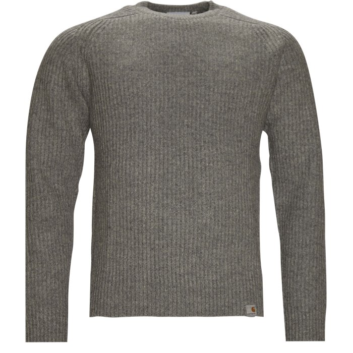 Rib Sweater - Strik - Regular - Grå